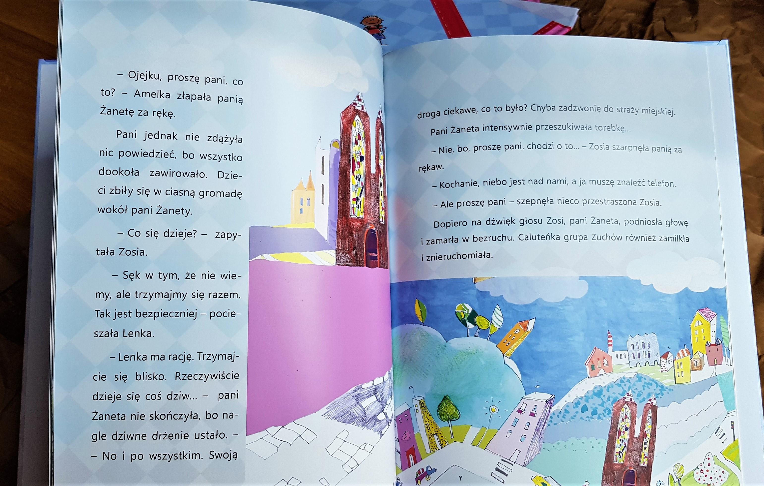 rozkładówka personalizowanego opowiadania o wycieczce do Krakowa